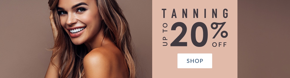 Tanning: up to 20% off (Sept/Oct 2019)