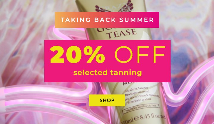 20 pc off tanning desktop