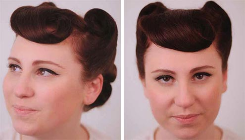 retro hair updo style