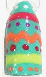 easter gellux nail art design