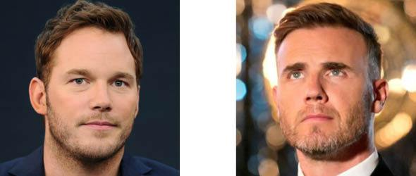 Chris Pratt and Gary Barlow