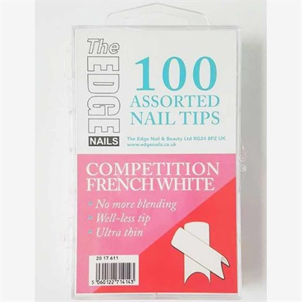 The Edge Competition Tips French White Pk100 Assorted