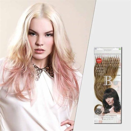Balmain Fill-in Softring Extensions Human Hair 40cm 50pcs - L10