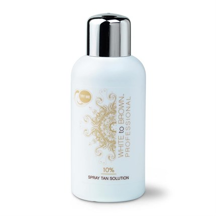 WHITE to BROWN 10% Spray Tan Solution 250ml