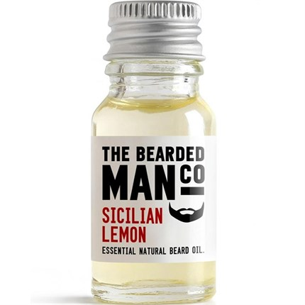 The Bearded Man Beard Oil 10ml - Sicilian Lemon