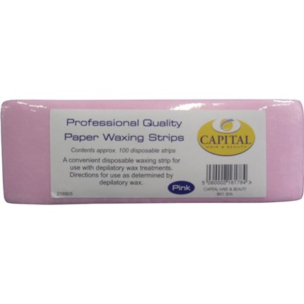 Capital Paper Waxing Strips Pk100 (Pink)