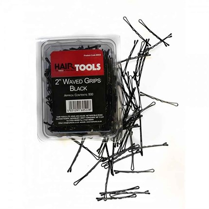 Hair Tools Waved Grips 2 inch Pk500 - Black