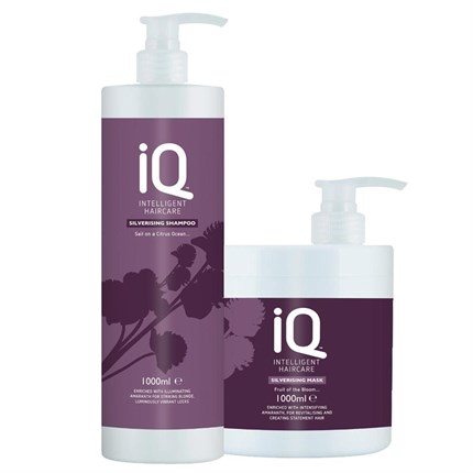 IQ Intelligent Haircare Silverising Twin Pack 1 Litre