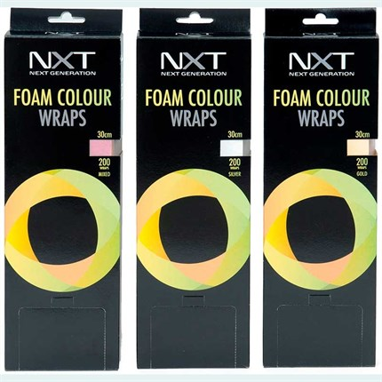 NXT Foam Colour Wraps 30cm - Mixed (200 sheets)