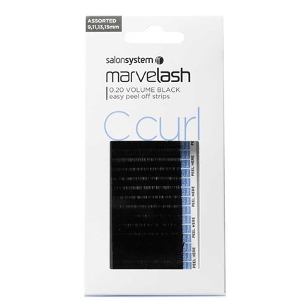 Salon System Marvelash Lash Extensions C Curl 0.20 (Volume) - Assorted (9,11,13, 15mm)