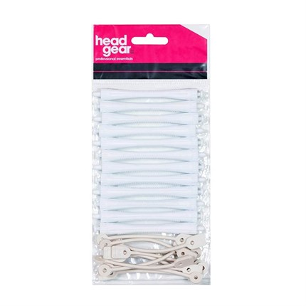 Head-Gear Perm Rods - White