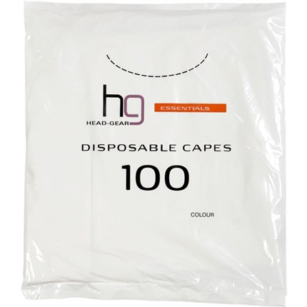 Head-Gear Disposable Capes Pk100 - Black
