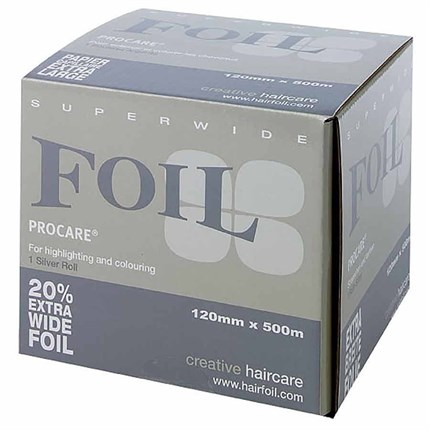 Procare Superwide Foil 120mm x 500m - Silver