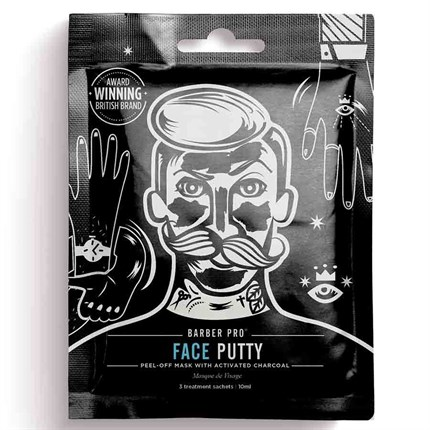 Barber Pro Face Putty Peel-off Face Mask - Single