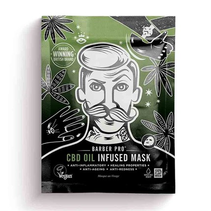 Barber Pro CBD Oil Infused Sheet Mask