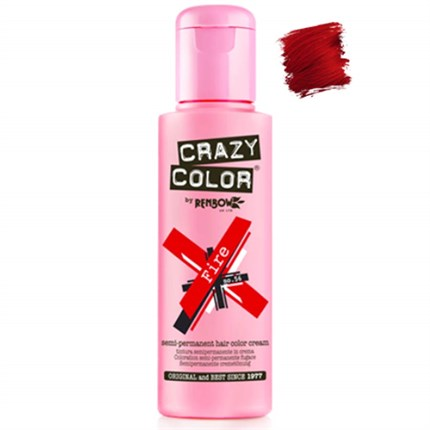 Crazy Color Hair Colour Creme 100ml - Fire Red