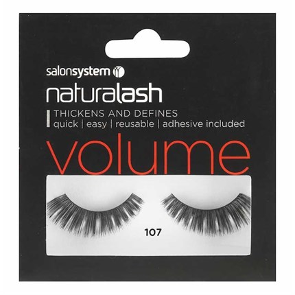 Salon System Naturalash Strip Lashes - 107 Black (Volume)
