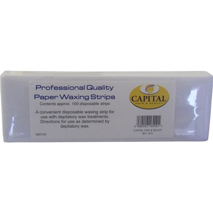 Capital Paper (Thinner but Stronger) Waxing Strips Pk100