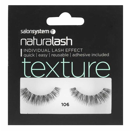 Salon System Naturalash Strip Lashes - 106 Black (Texture)