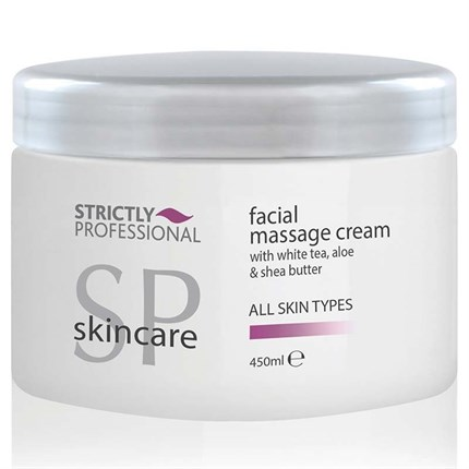 Strictly Professional Facial Cream with White Tea, Aloe & Shea Butter 450ml