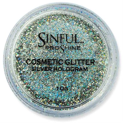 Sinful PROshine Cosmetic Glitter 10g - Silver Hologram