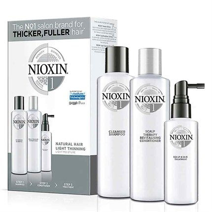 Nioxin Trial Kit System 1 - For Natural Hair with Light Thinning