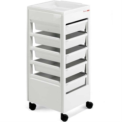 REM Studio Beauty Trolley (with Flat Top) - White