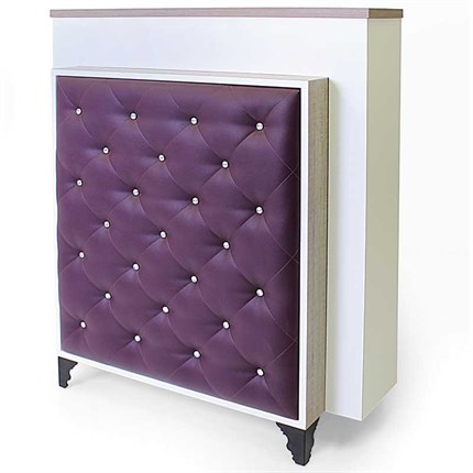 REM Bliss Reception Desk - Aubergine