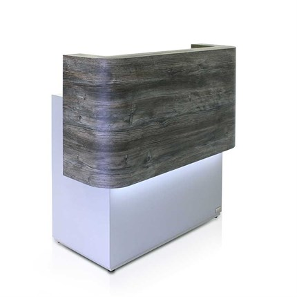 REM Lunar Reception Desk - Cherrywood