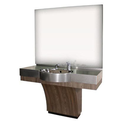 REM The Duke Barbers Unit (with Stainless Steel Basin) - Egyptian Gold