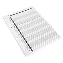 Agenda Loose Leaf Refill (4 Assistant) 4 Hole x100