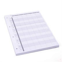 Agenda Loose Leaf Refill (6 Assistant) 3 Hole x100