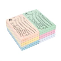 Agenda Stylist Bill Check Pads (12 X 100 Leaf Pads) - Assorted