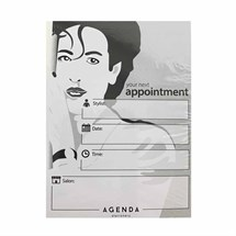 Agenda Appointment Cards Pk100 - Hair