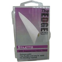 The Edge White Stiletto Nail Tips Pk100 Assorted