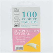 The Edge Competition Tips Natural Pk100 Assorted