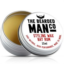 The Bearded Man Moustache Wax 15g - Bay Rum