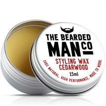 The Bearded Man Moustache Wax 15g - Cedarwood
