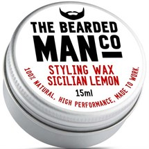 The Bearded Man Moustache Wax 15g - Sicilian Lemon