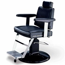 Takara Belmont Dainty Barber Chair Black Round SI-85 Base