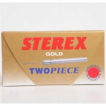 Sterex Two Piece Disposable Needles Short Gold Pk50 - F4