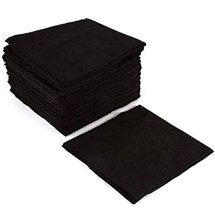 Capital Black Disposable Towels (Pack of 50)