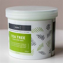 Looks Warm Strip Wax 450g- Tea Tree (Cream)
