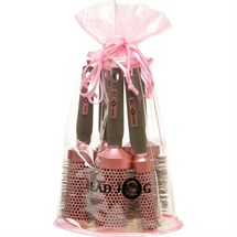 Head Jog Oval Pink Brush Bag (5 Radial Brushes)