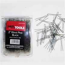 Hair Tools Pins Waved Pk1000 - 2 inch Black