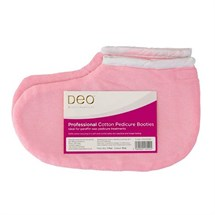 Deo Cloth Pedicure Bootie Socks - 1 Pair