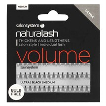 Salon System Naturalash Individual Lashes Ultra Black - Medium (Volume)
