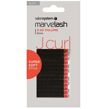 Salon System Marvelash Lash Extensions J Curl 0.20 (Volume) - 9mm Black