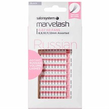 Salon System Marvelash Russian 6D Fan 0.07 (Volume) - Assorted (8,9,10,11,12mm)
