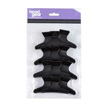 Head-Gear Butterfly Clamps Small Pk12 - Black